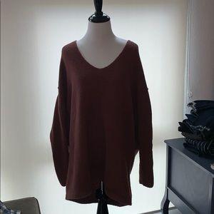 Free People sweater in Rust (SP)